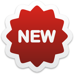 New! png sticker. Promotion new icon colorful