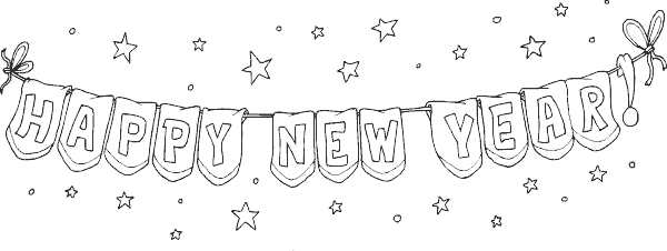 New year banner png. Years coloring page com