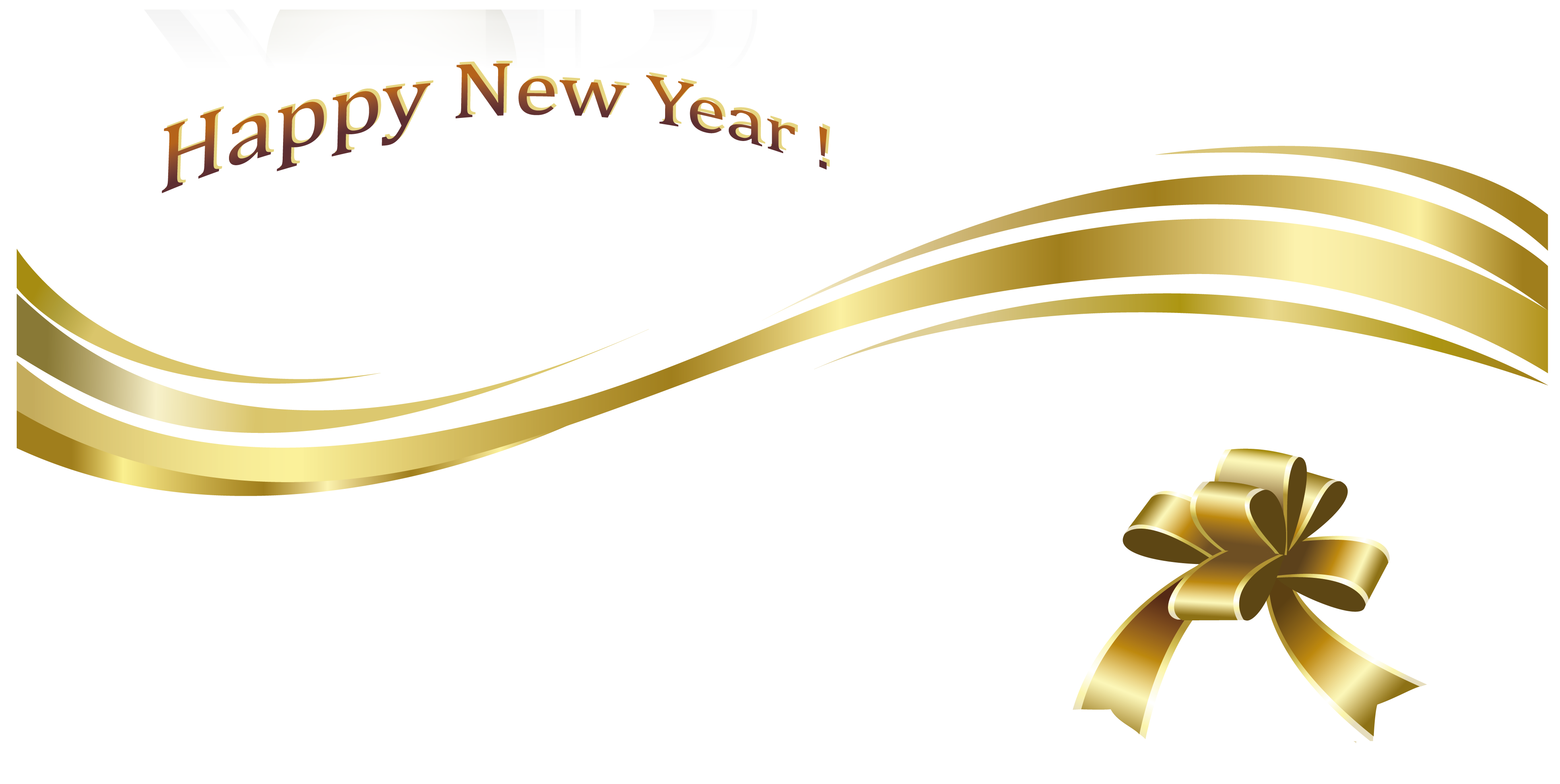 New year clip art png. Happy gold text and