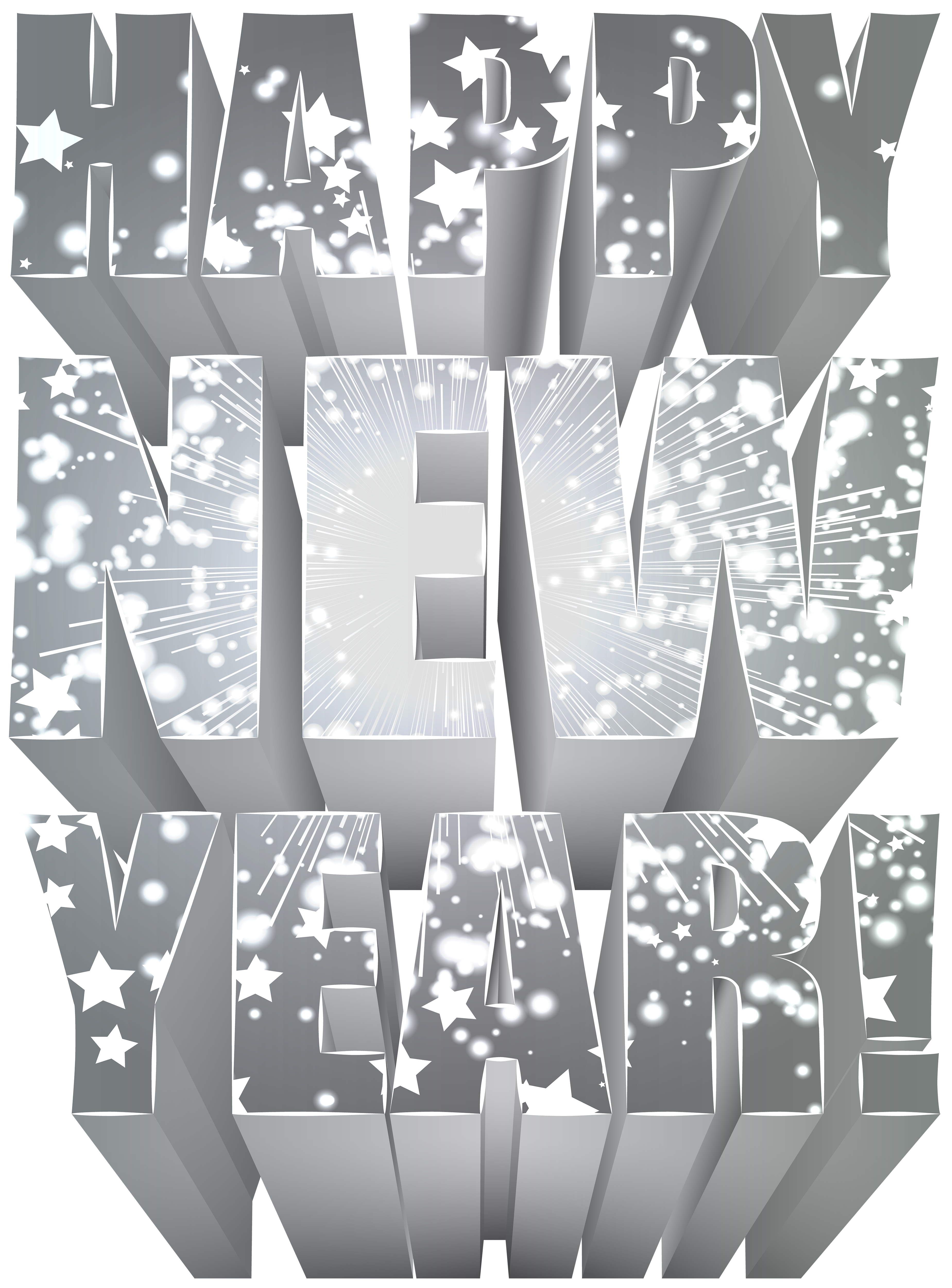 New year clip art png. Silver happy image gallery