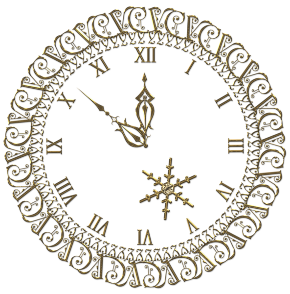 new year clock png