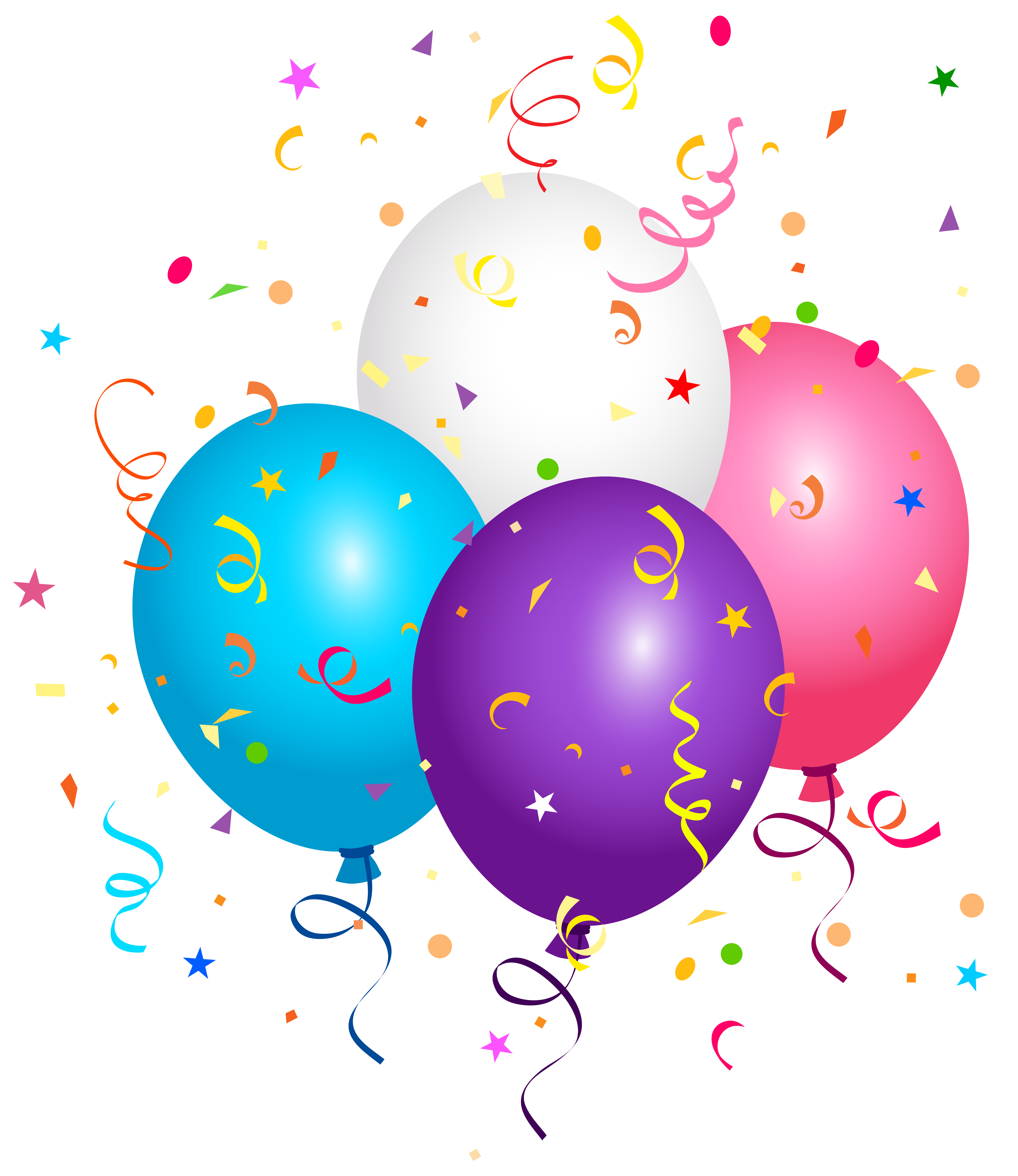 Confetti drawing balloon. Balloons and png clipart