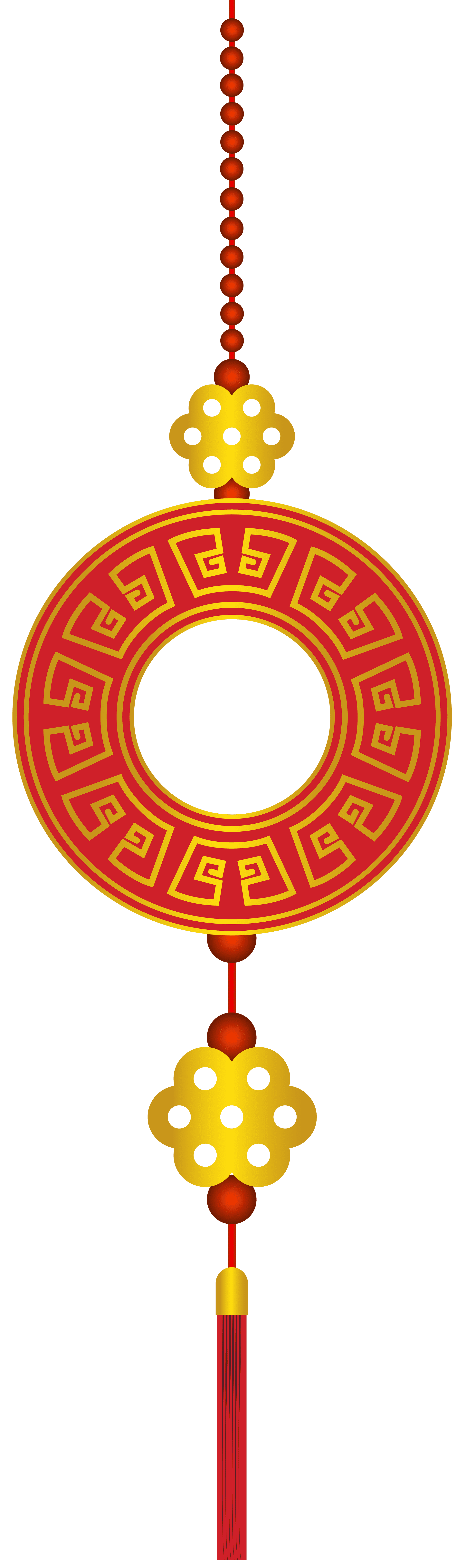 New yeard ornaments png. Chinese year decor free