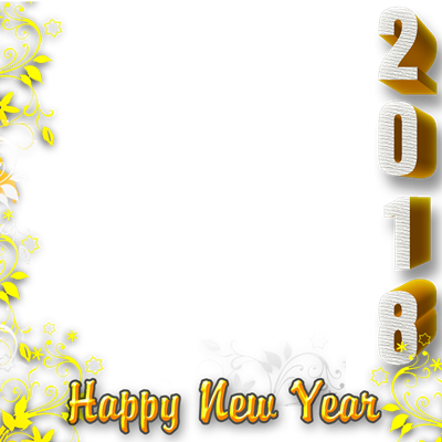 New years border png. Happy year profile picture