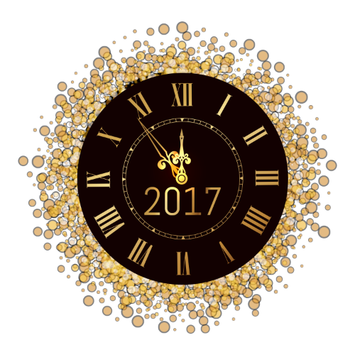 new years clock png