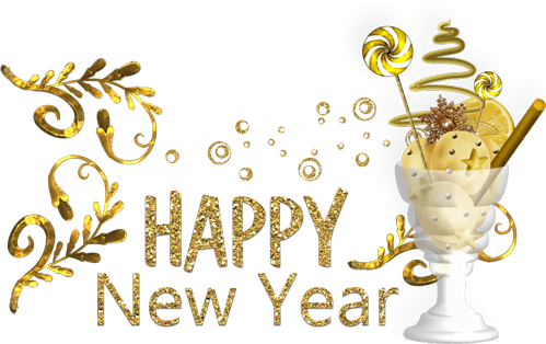 new years eve 2018 gold letters png