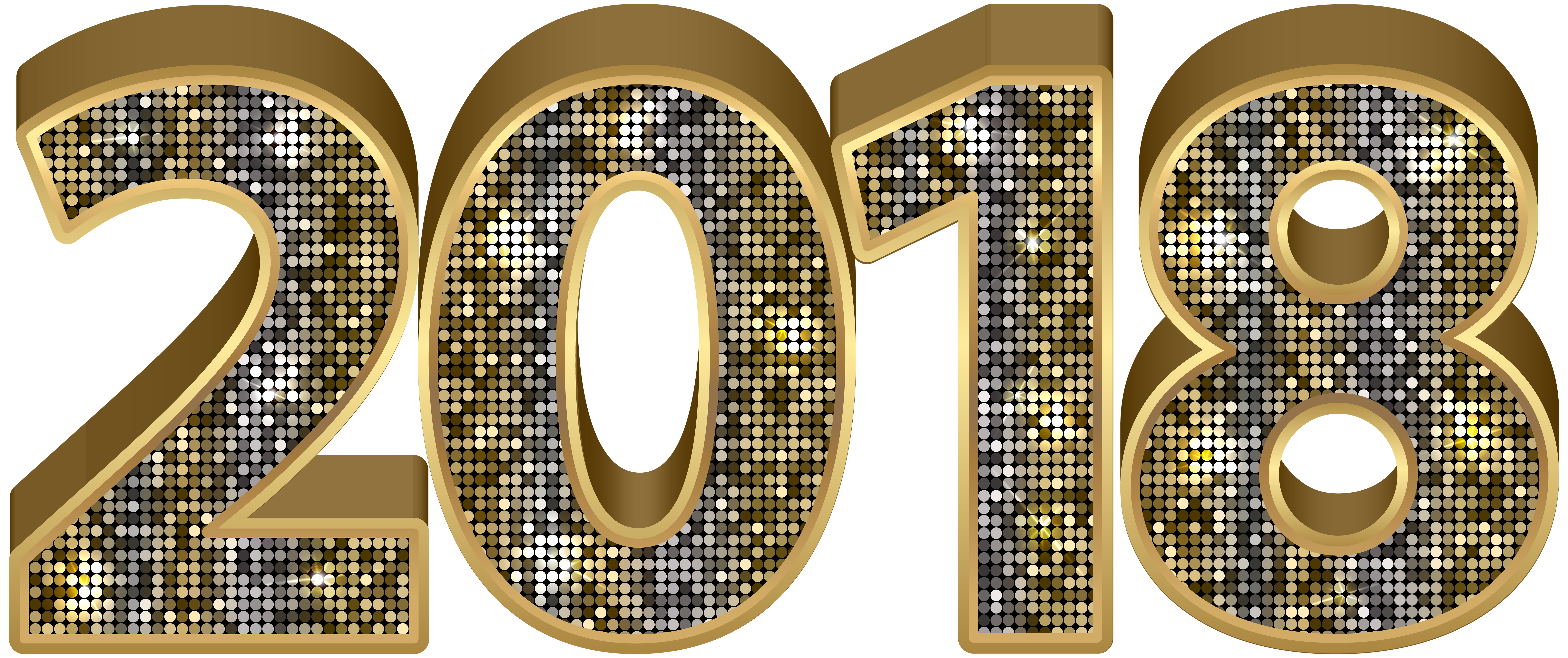 New years eve 2018 gold letters png. Deco clipart image