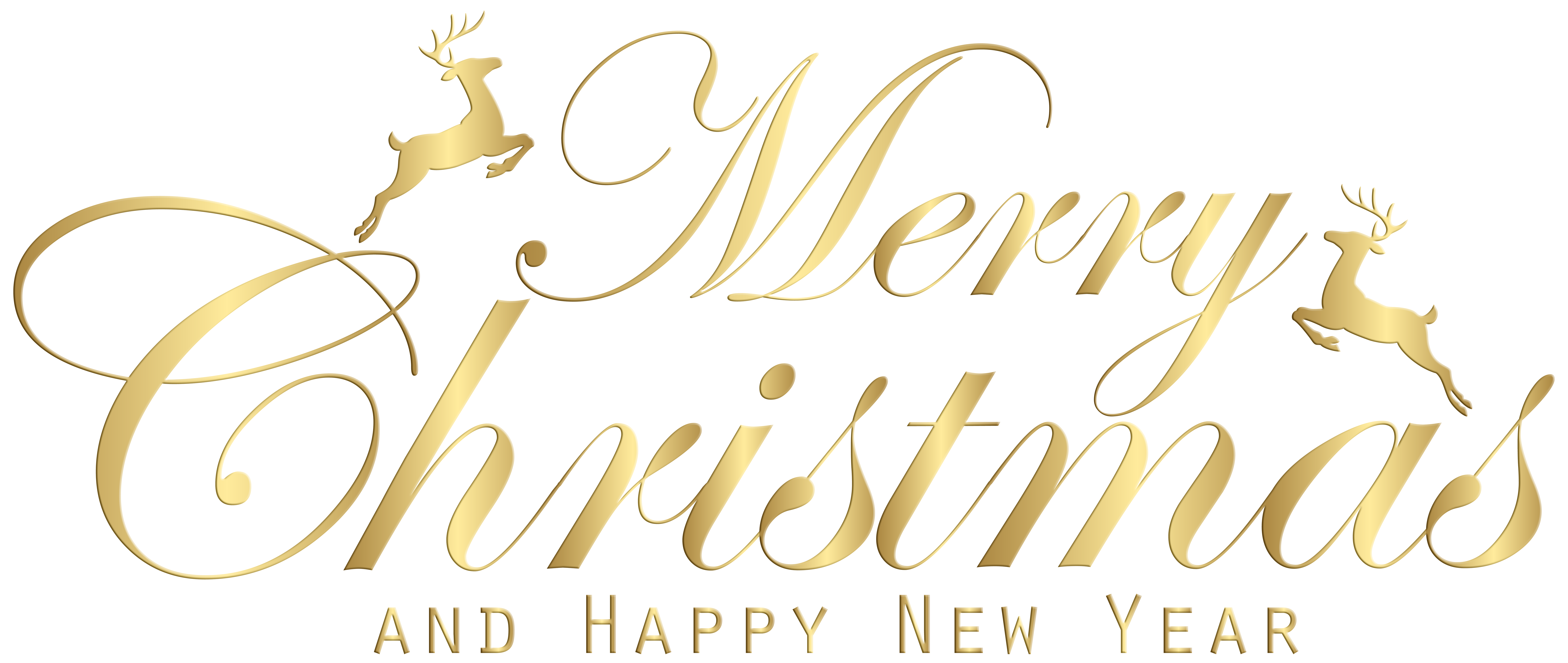 merry christmas gold png