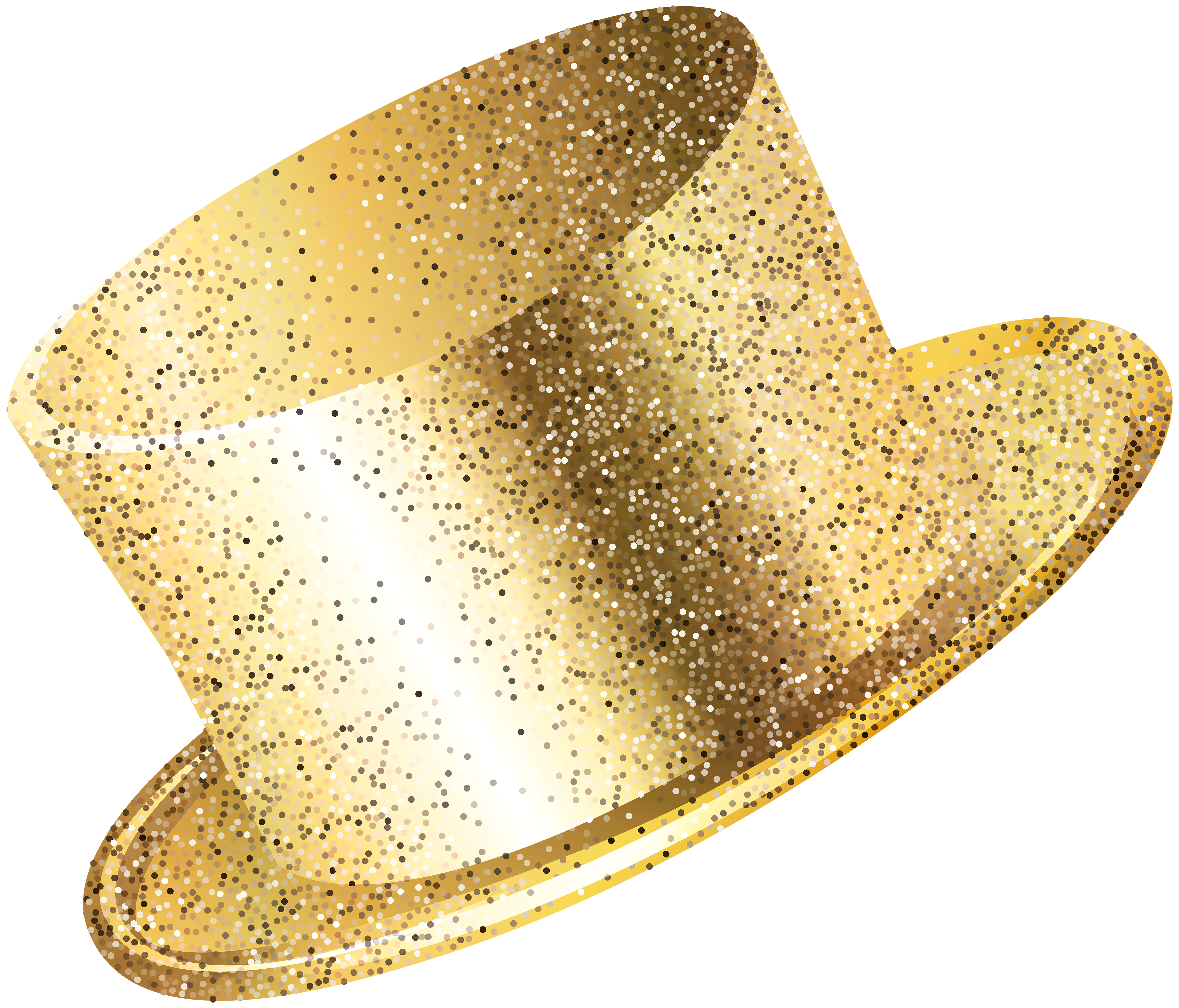 New years party hat png. Year gold clip art