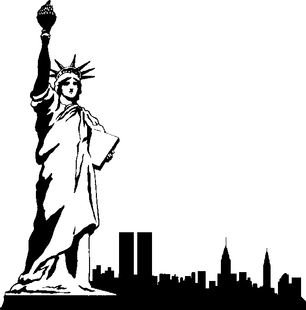 New York City. Clipart black and white