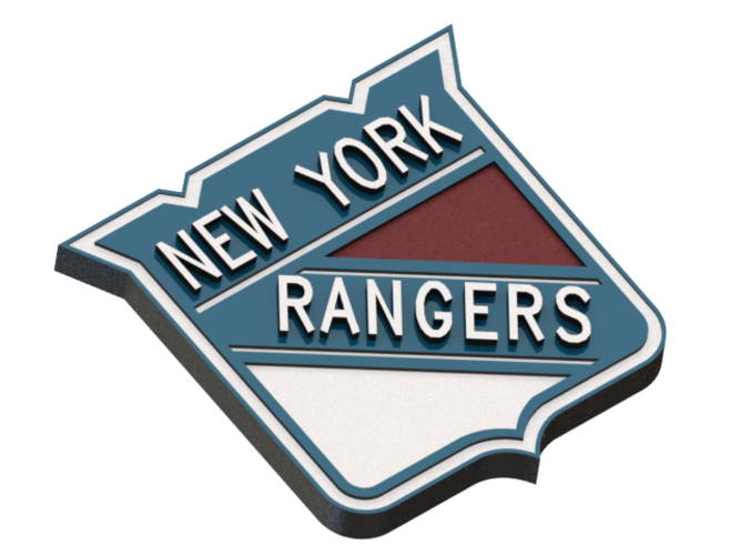 New york rangers logo png. D printed by