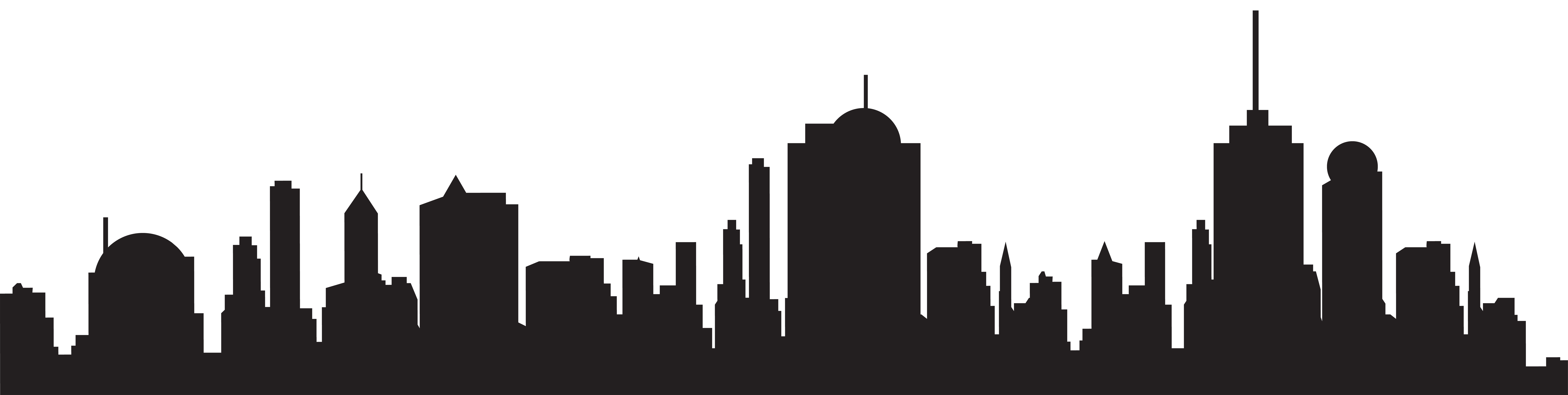 New york skyline free. Seattle vector silhouette image royalty free download