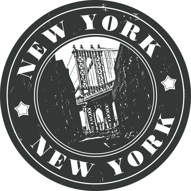New york stamp png. Thanks nyc transparent brown
