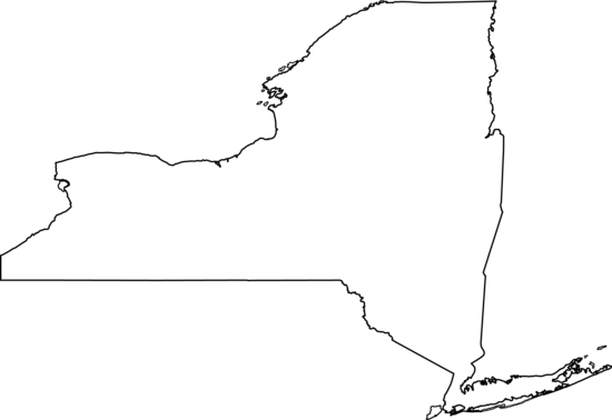 Clipart. New york state outline png vector transparent stock