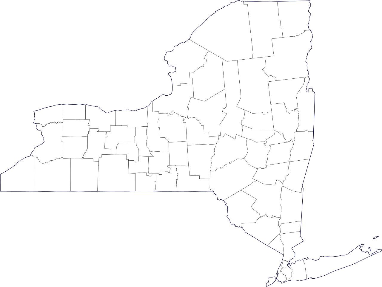 New york png state. File map of county