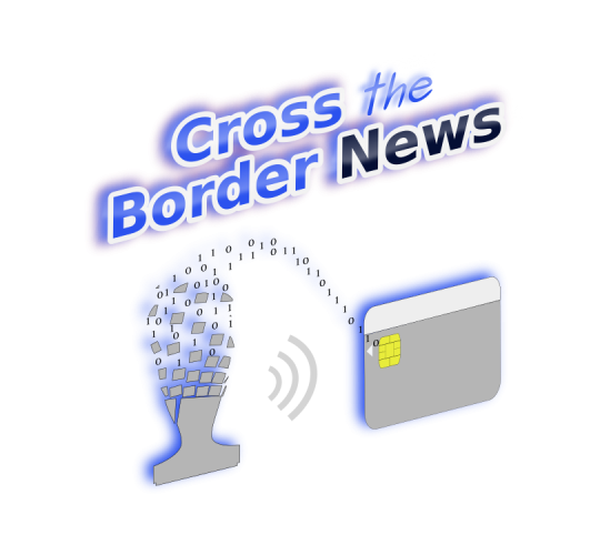 News border png. Electronic customs stamp on