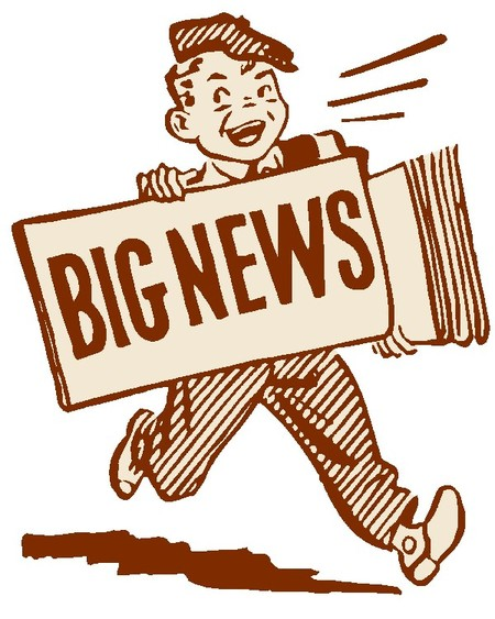News clipart news update. For this coming week