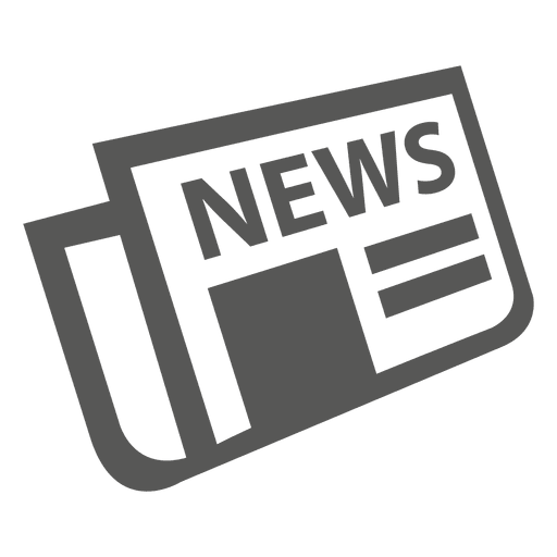 News png icon. Flat folded newspaper transparent