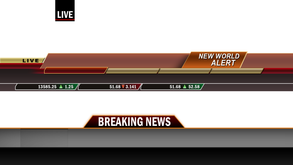 News template png. Breaking headers psd official