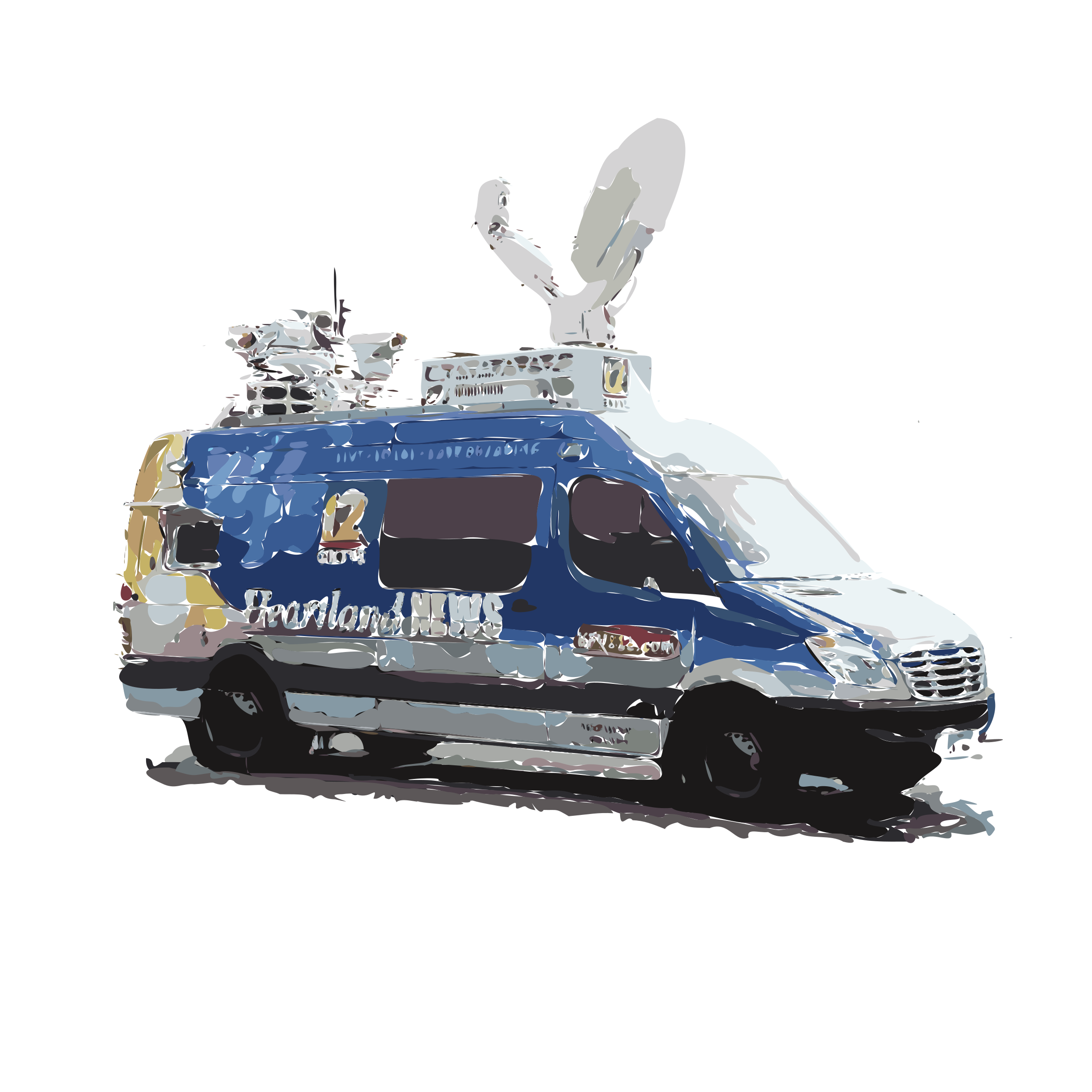 News van png. Isolated icons free and