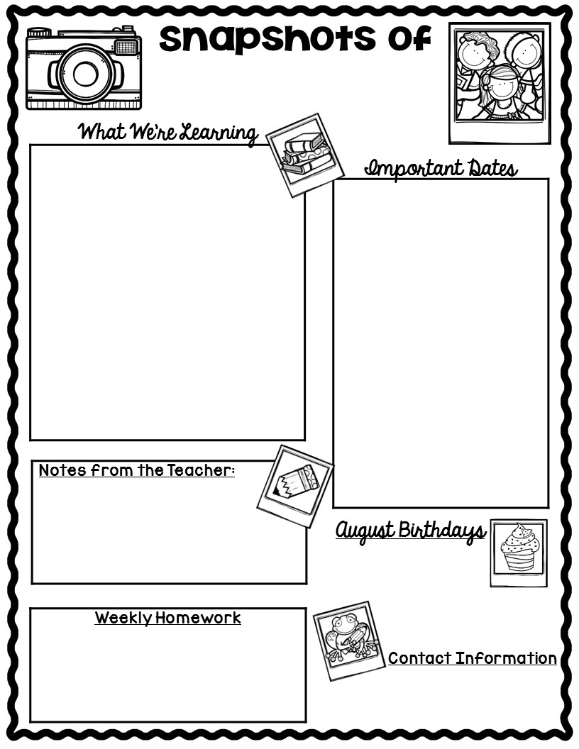 Newsletter clipart blank newspaper. Monthly templates throughout free