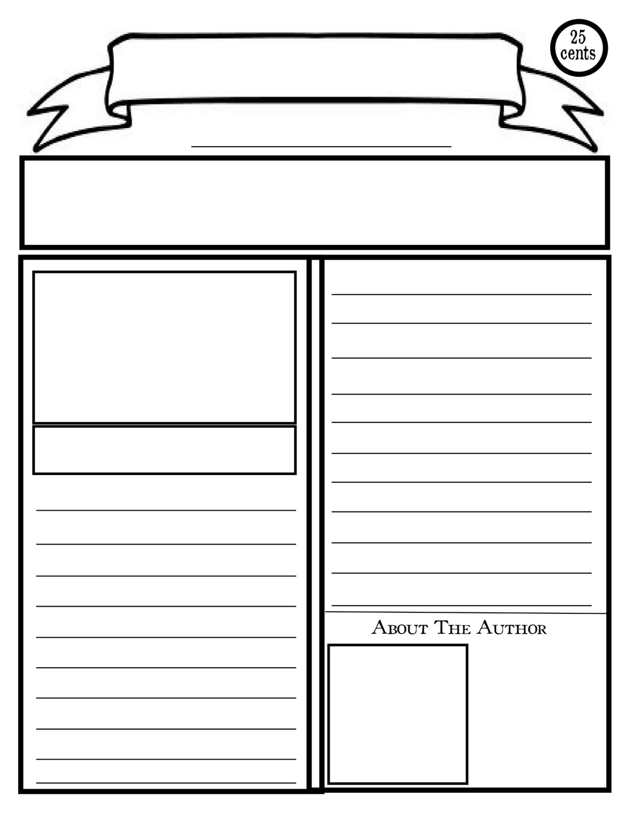 Newsletter clipart blank newspaper. Templates free simple template