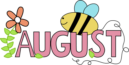 Newsletter clipart july. August clash