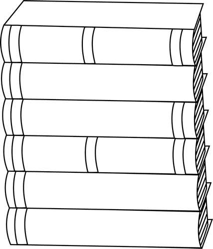 Spine clipart clip art. Black and white stack