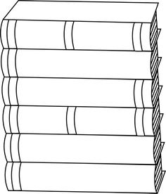 Spine clipart black and white. Stack of books clip