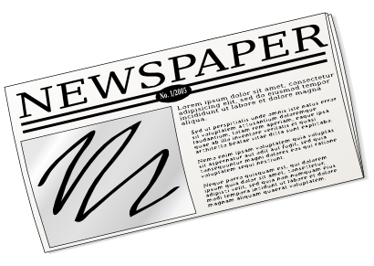 Free to use clip. Newspaper clipart jpg free library