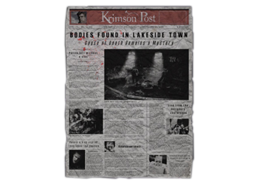 Newspaper clip personal. Newspapers the evil within