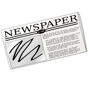 magazine png freeuse. Newspaper clip powerpoint banner library download