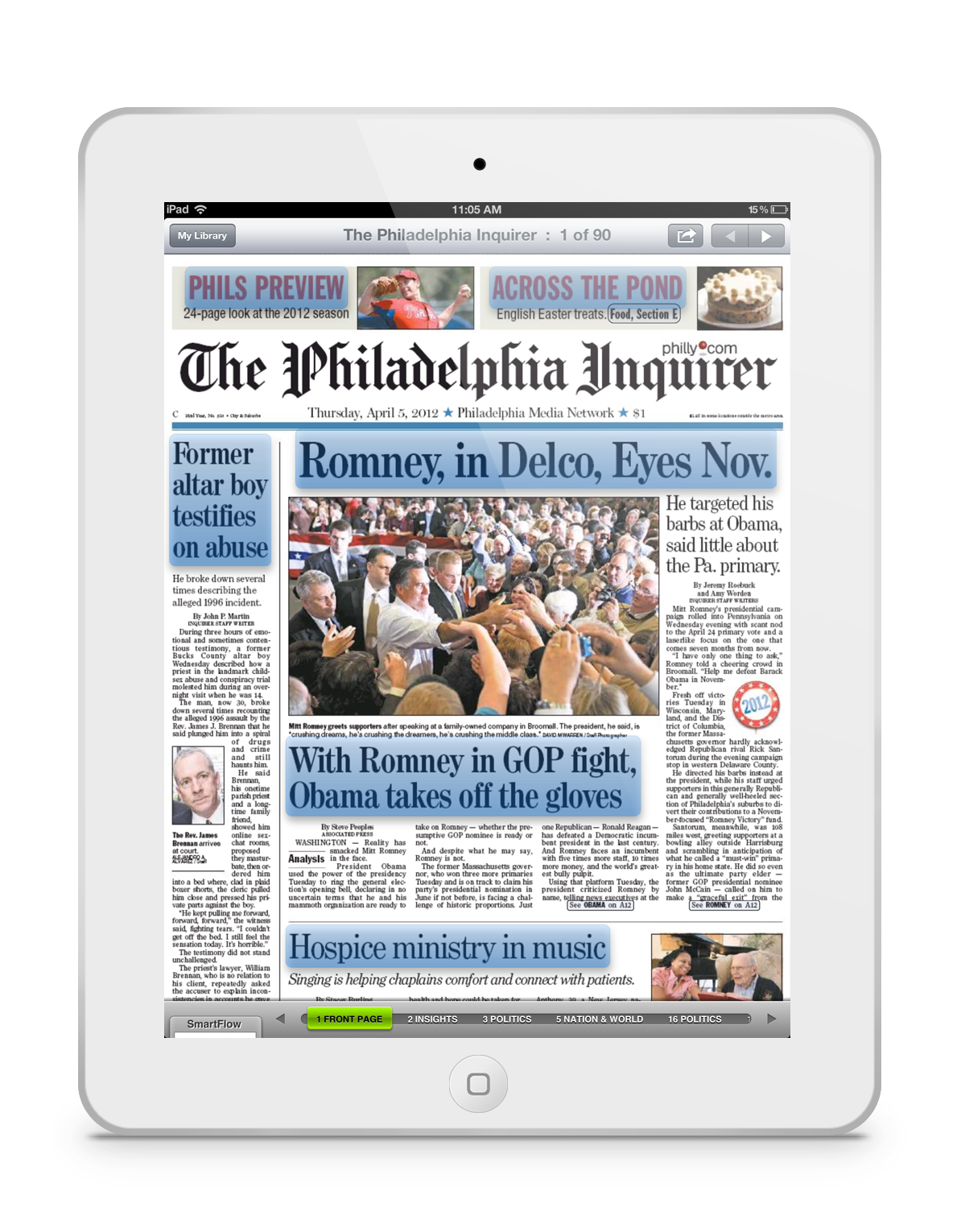 Newspaper clip traditional. Newspaperdirect s new pressreader