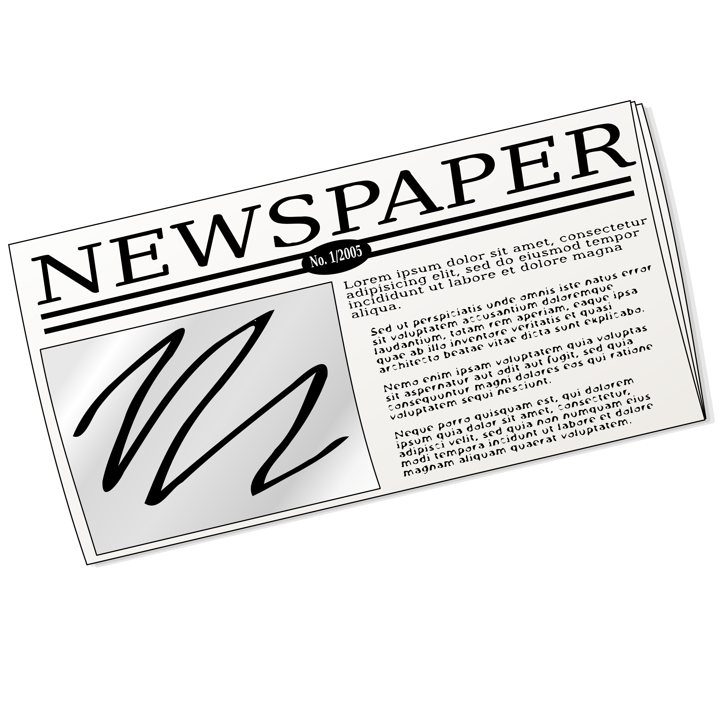 Newspaper clip powerpoint. Free headline cliparts download