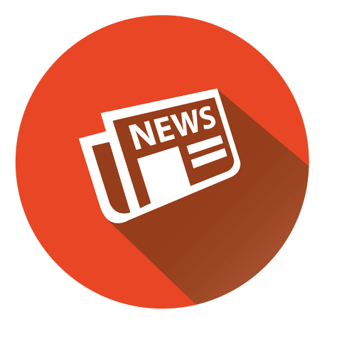 Newspaper logo png. News stroke icon transparent