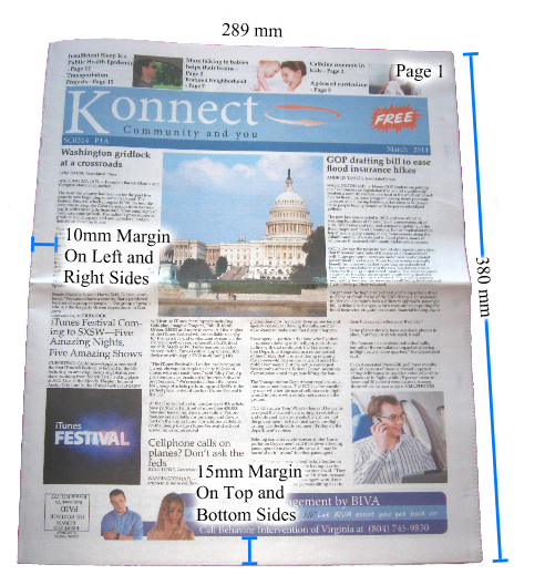 Newspaper .png. Specifications for printing or