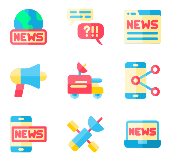 Vector newspaper icon. Icons free