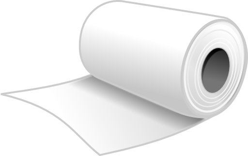 Newspaper rolled up png. Paper roll clipart i