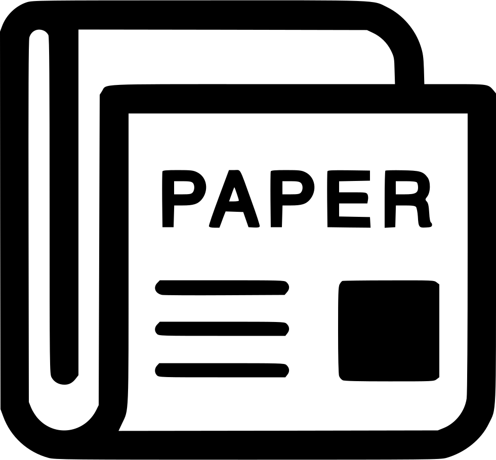Newspaper symbol png. News paper magazine journal