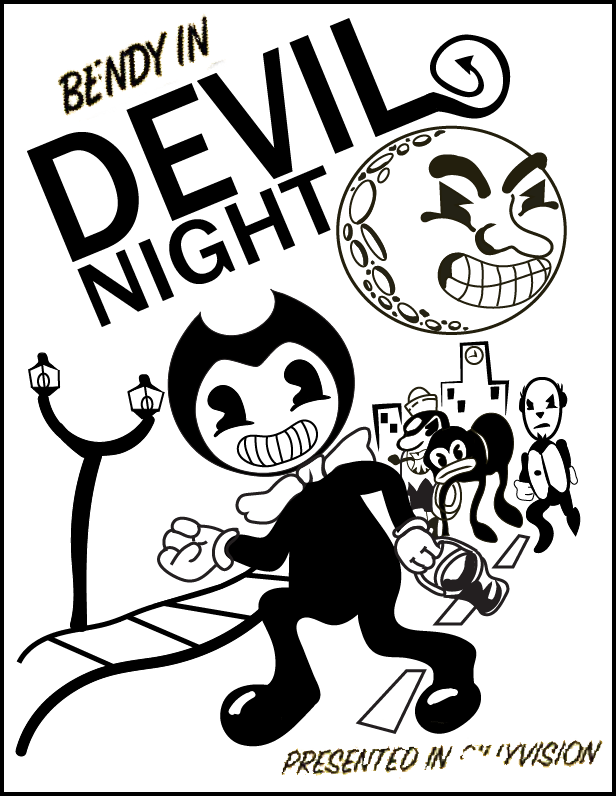 Newt drawing poster. Bendy and the ink