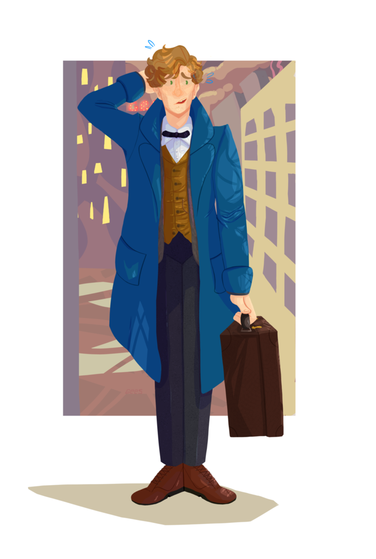 Newt drawing scammander. Scamander by discord on