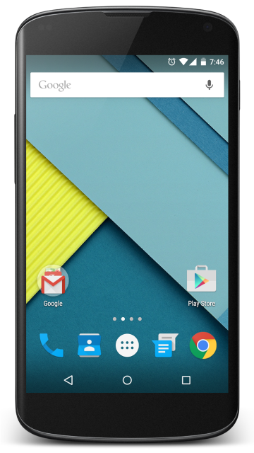 Nexus 4 png. File con android wikimedia