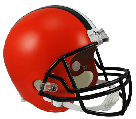 Cleveland browns helmet png. Full size deluxe replica