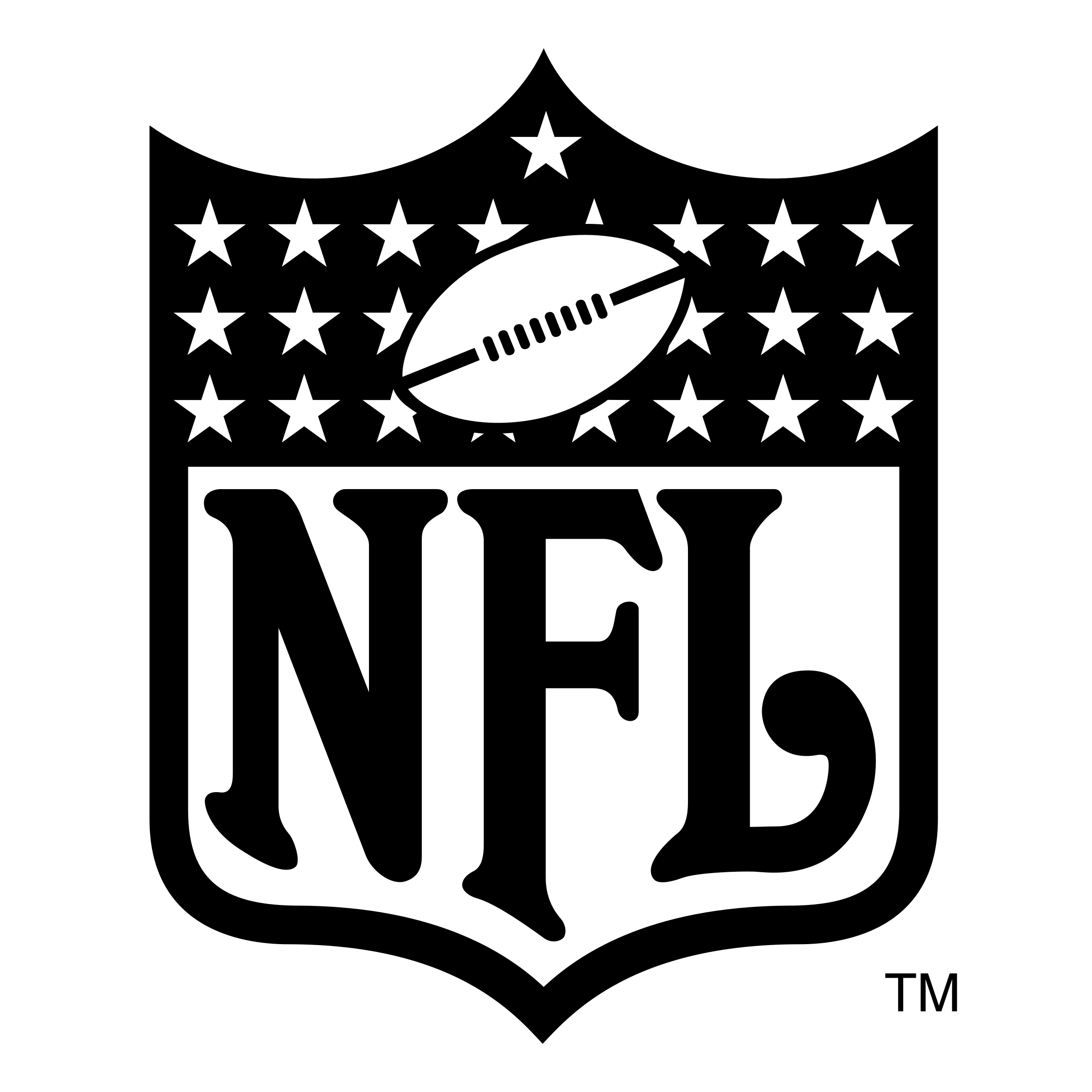 Nfl logo black and white png. Transparent svg vector freebie