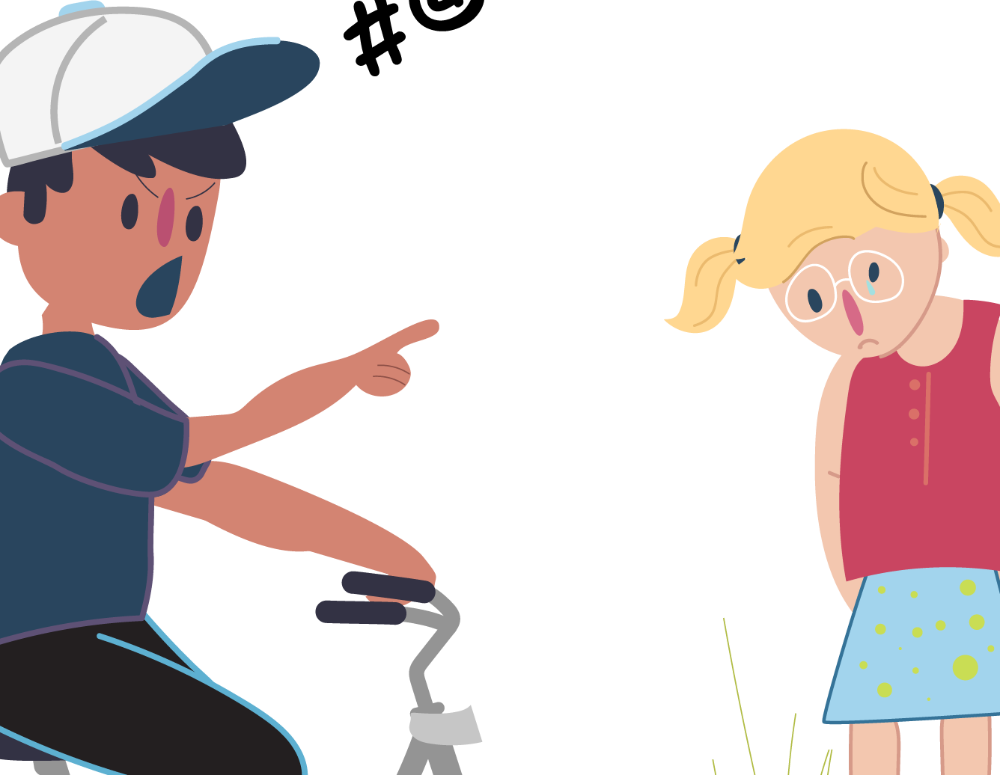 Bullying clipart bad friend. Is not ok kids