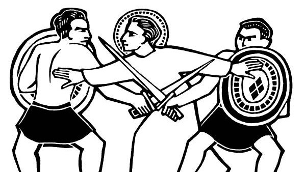 Nice clipart peacemaker. St telemachus