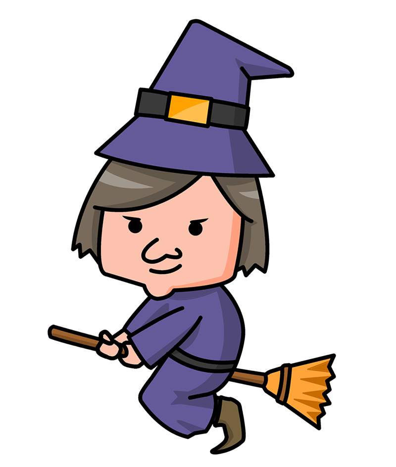 Witch cartoon . Witches clipart jpg black and white library