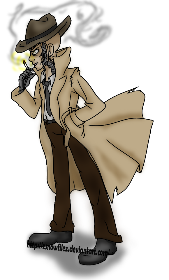 Nick valentine png. Fallout by zsnowfilez on