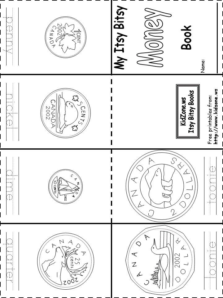 Nickel clipart money canadian. Coins book printable free