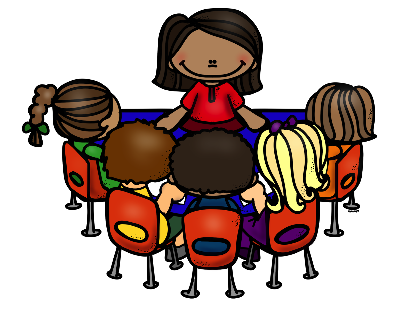 Panda clipart teacher. Guided reading group with